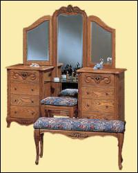 oakwood versailles bedroom furniture. vanity base, mirror \u0026 bench (shown with optional, matching dressing bench) oakwood versailles bedroom furniture